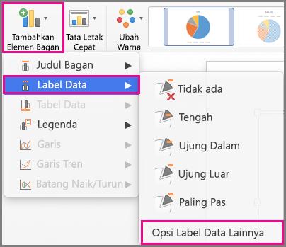 Tambahkan Elemen Bagan Office untuk Mac