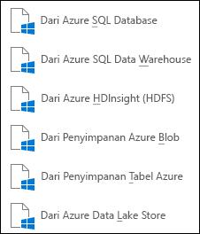 Mendapatkan data dari Microsoft Azure