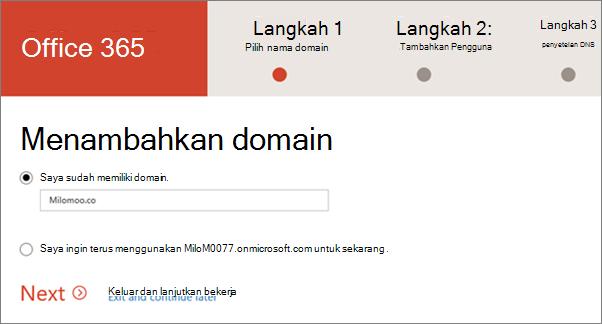 Menambahkan domain Anda