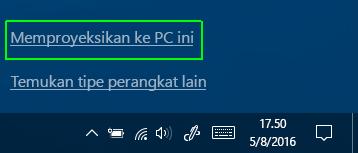 Memproyeksikan ke PC ini