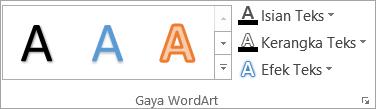 Grup gaya WordArt