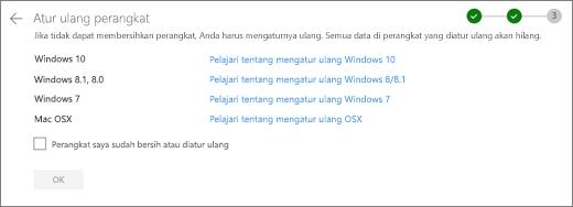 Cuplikan layar perangkat lain di situs web OneDrive