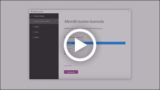 OneNote importir video