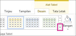 Galeri gaya tabel dan tombol Lainnya