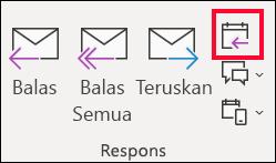 Dari pesan email, pilih balas dengan Rapat.