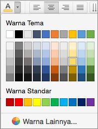 Memilih warna font