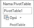 Opsi PivotTable pada pita