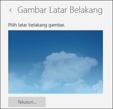 Gambar Latar Belakang dalam aplikasi Email