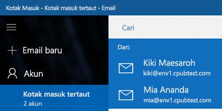 Pilih akun Anda untuk mengirim pesan baru