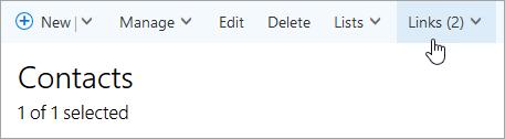 Cuplikan layar tombol link pada halaman orang.