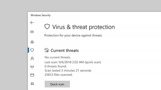 Perlindungan dari virus dan ancaman
