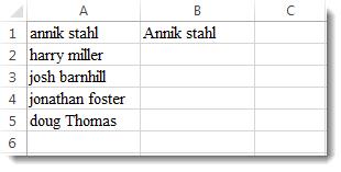 Daftar nama dalam huruf kecil