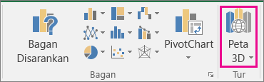 Opsi Peta 3D Excel