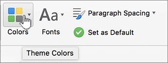Tombol warna halaman desain