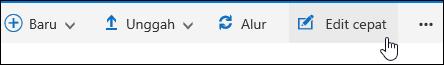 Gunakan Edit cepat untuk mengubah tampilan kustom dari pustaka dokumen
