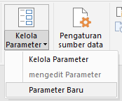 Power Query - Mengelola opsi Parameter