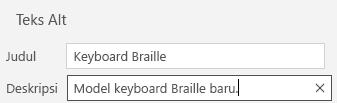 Email untuk Windows 10 dialog teks alt