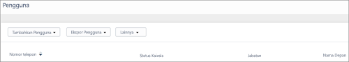 Cuplikan layar: Menambahkan nomor telepon pengguna Kaizala