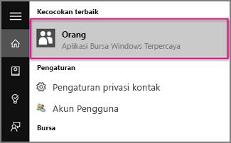 Ketik Orang di Windows 10