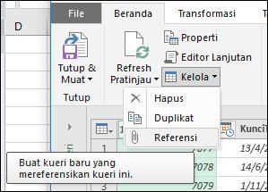 Power Query - Menu Manajemen Kueri di Editor Kueri