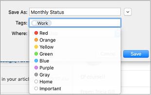 Mengatur nama, tag, dan menyimpan lokasi Templat email Anda
