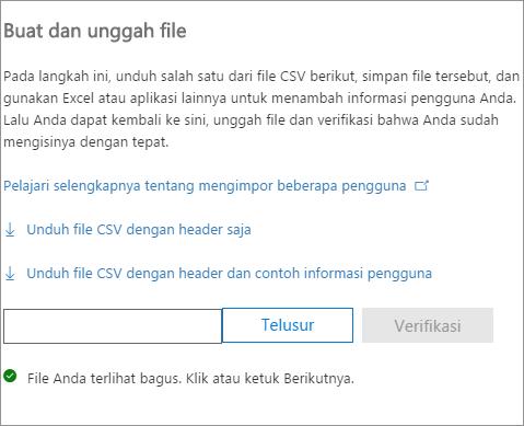 File CSV Anda diverifikasi