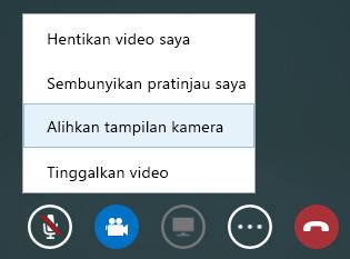 Cuplikan layar beralih video