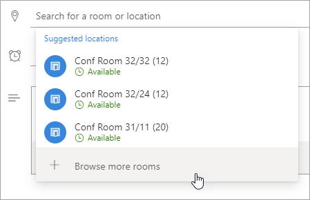 Cuplikan layar menu lokasi yang disarankan