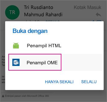 OME Viewer dengan Outlook untuk Android 2