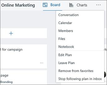 Klik tiga titik untuk daftar lengkap alat untuk Planner