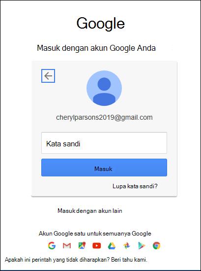Masukkan kata sandi Gmail Anda.