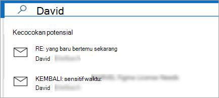 Perlihatkan saran email