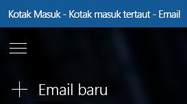 Pilih email baru untuk membuat pesan baru