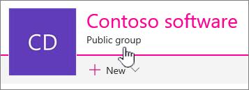 Subjudul grup akan memperlihatkan situs tersambung grup