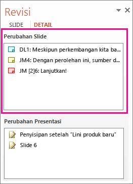 Perubahan Slide