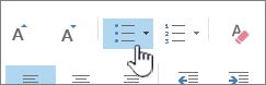 Outlook poin dan tombol angka