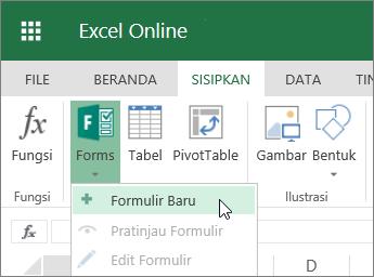 Forms > Formulir Baru