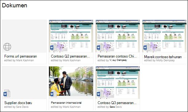 Menambahkan link ke pustaka dokumen di Office 365
