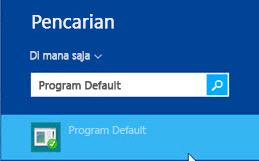 Cuplikan layar program default