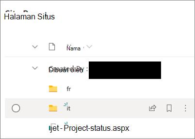 Folder penerjemahan