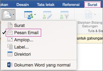 email gabungan surat