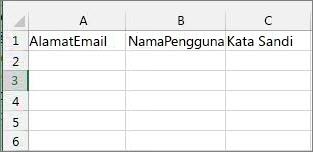 Judul sel di file migrasi Excel.