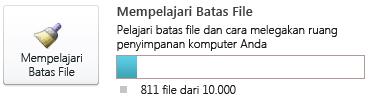 Meter dokumen SharePoint Workspace, menggunakan kurang dari 7.500 dokumen