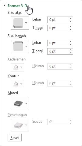 Pengaturan 3D format