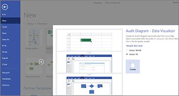 Halaman pertama panduan templat Diagram audit