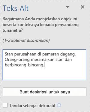 Dialog Teks Alt di Word untuk Windows
