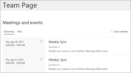 Komponen Web kalender grup