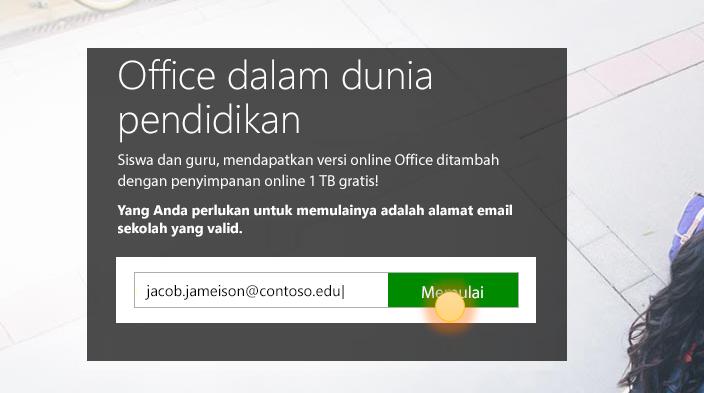 Cuplikan layar halaman memulai bagiam.