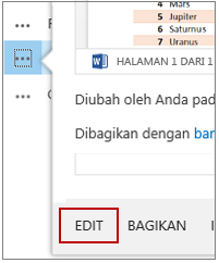 Pada Menu Buka, klik Edit