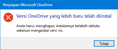 Pop-up kesalahan OneDrive